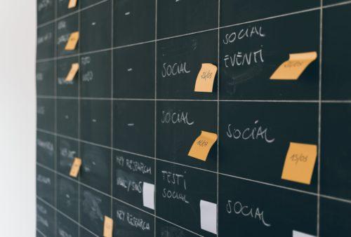 Tablica z zadaniami w Social Media
